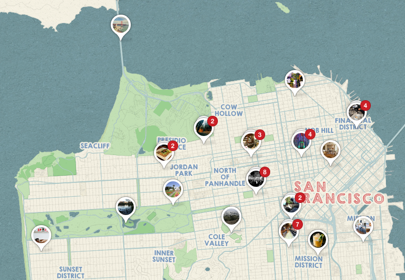 san francisco adventures map