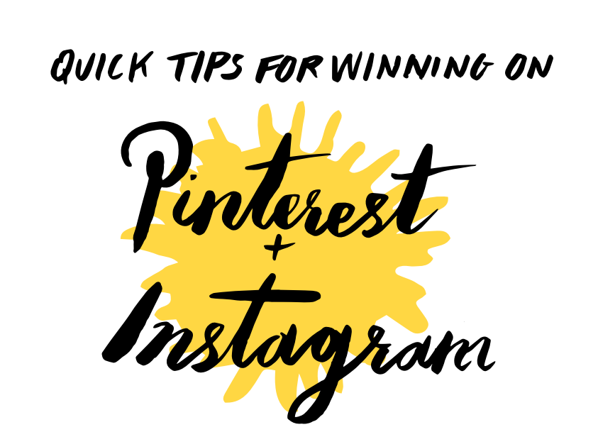 pinterest & instagram tips