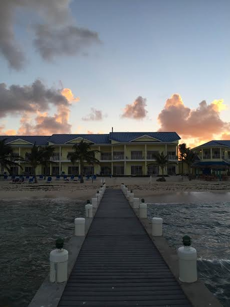 View from the end of the Pier at the Wyndham Reef Resort