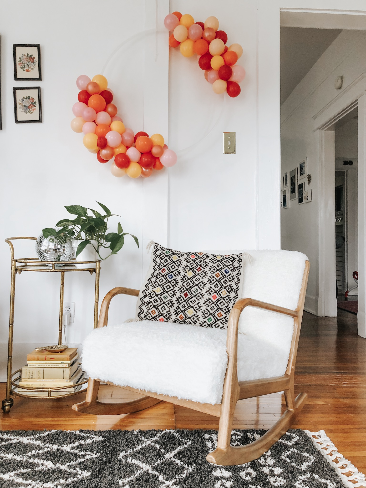 entryway-turned-sitting-area refresh with wayfair