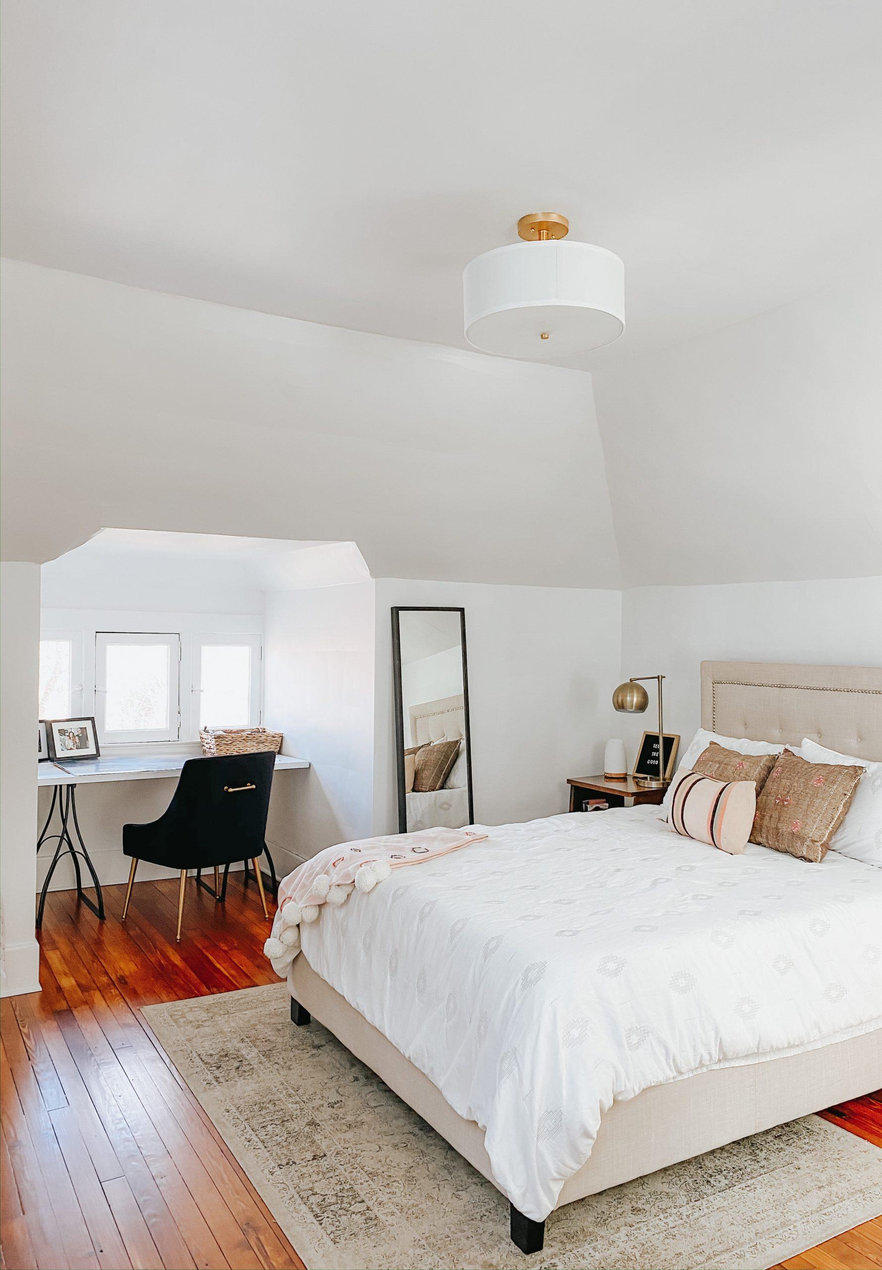 upstairs guest bedroom oasis with wayfair