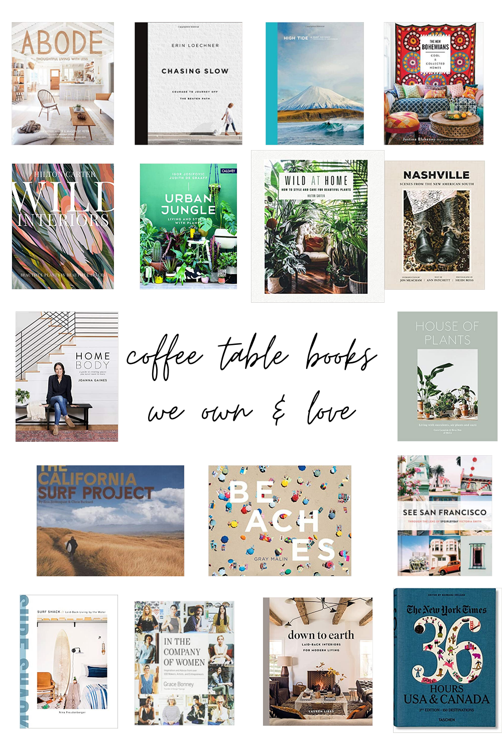 coffee table books we own & love