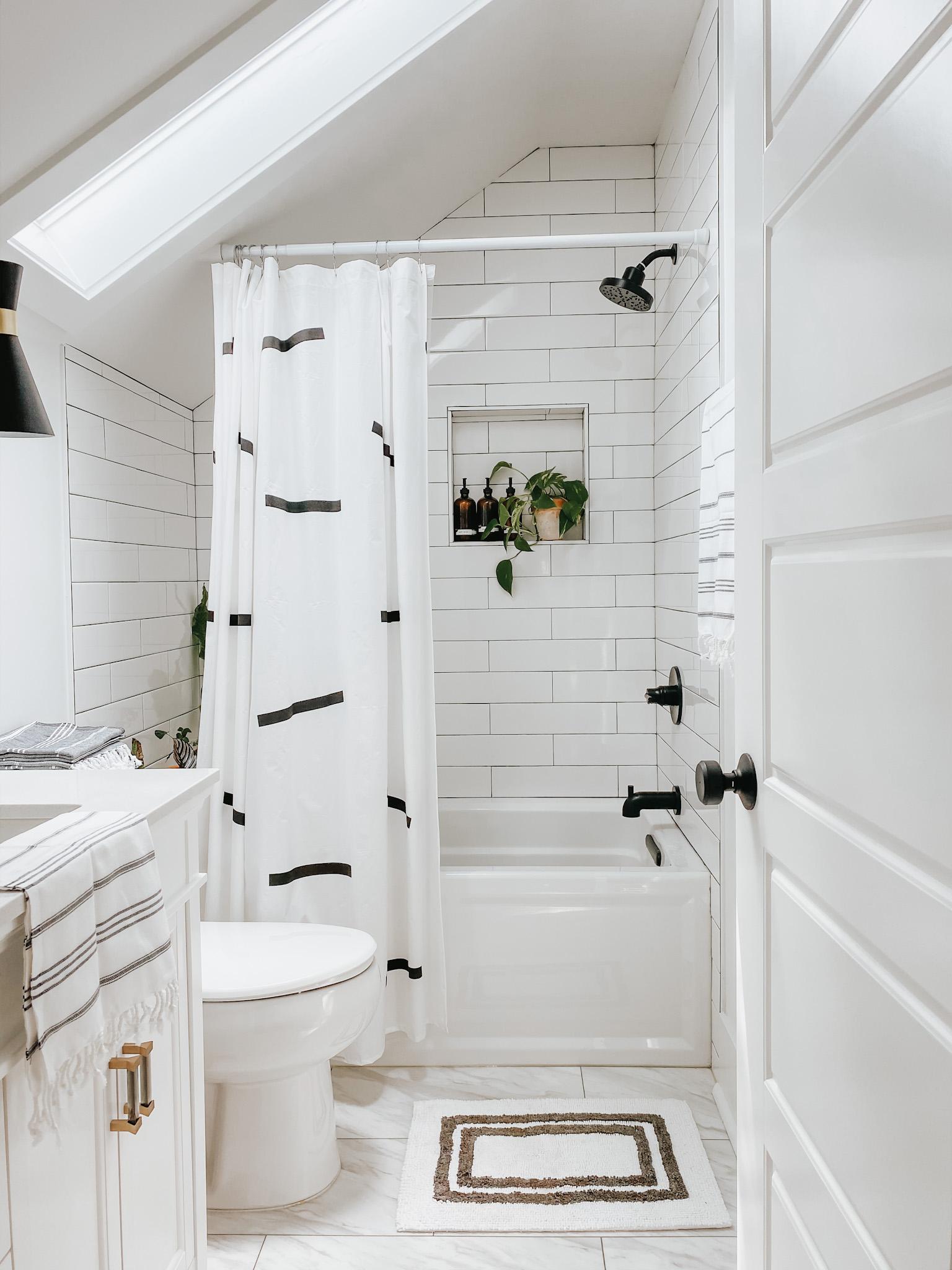 sloped wall bathroom refresh