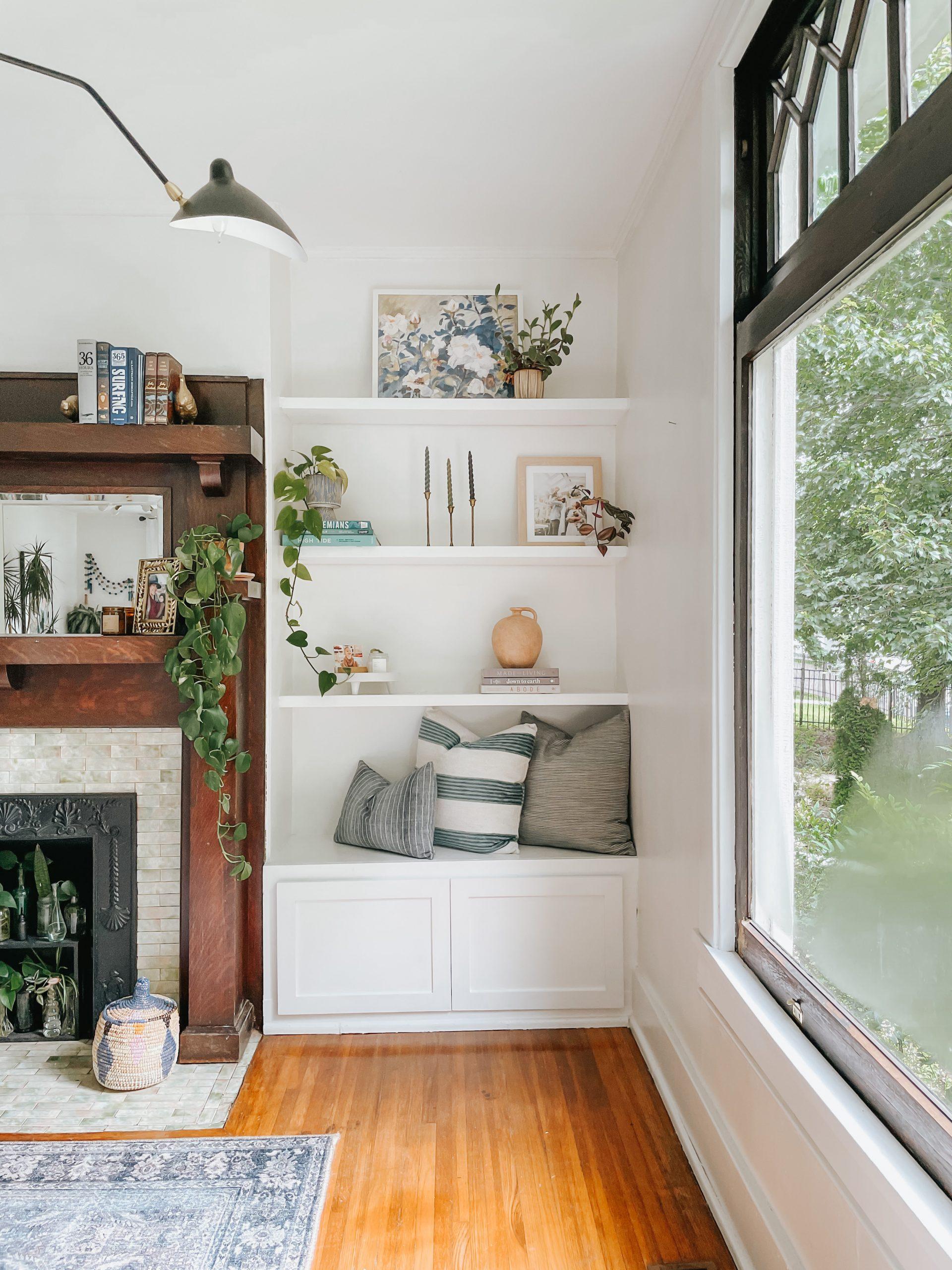 How-To: Custom Built-In Shelves in Our Living Room