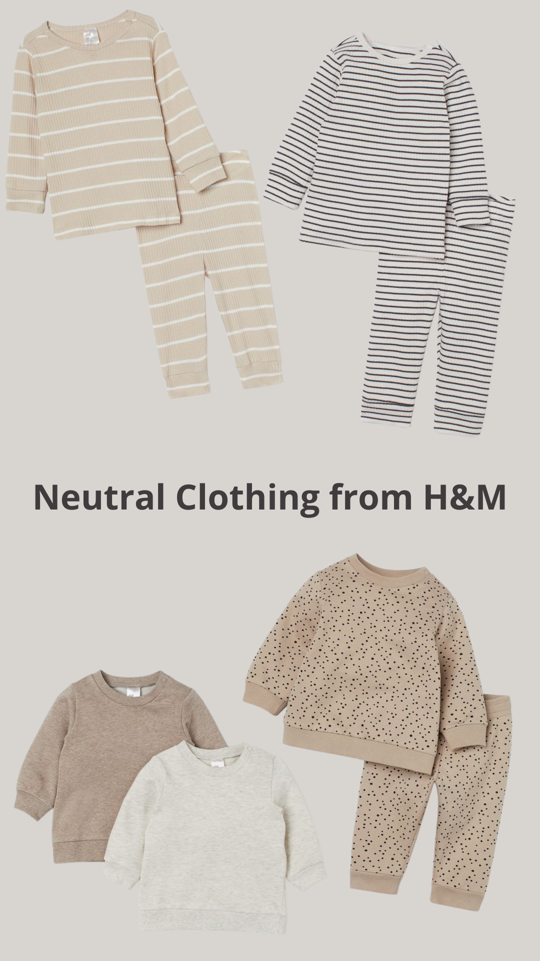 Neutral Kids Clothing I Ordered from H&M